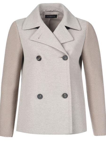 Пиджак шерстяной серый Peruffo