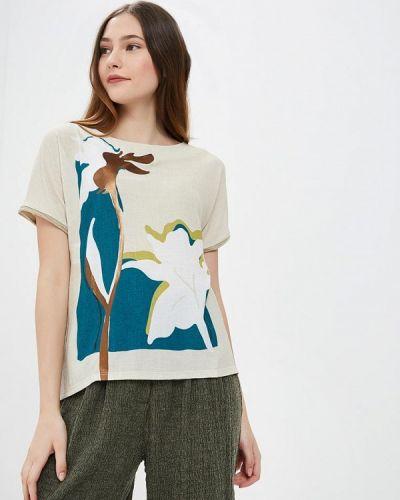 Блузка с коротким рукавом бежевый Trucco