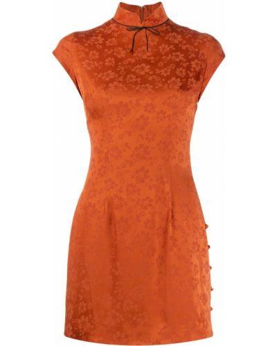 Платье с завышенной талией с цветочным принтом Alexa Chung