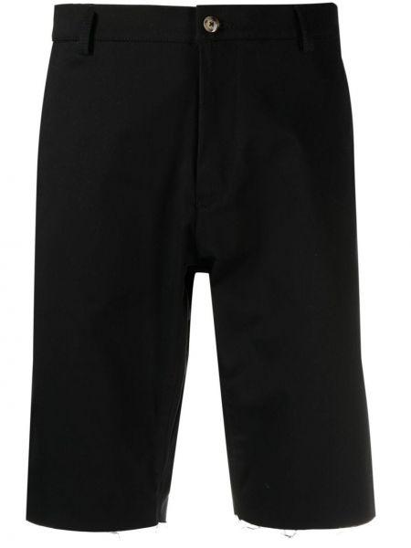 Czarne szorty bawełniane Omc