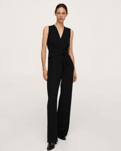 Черное платье длинное Mango