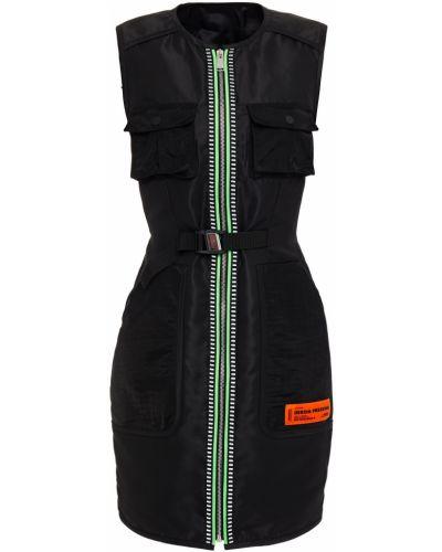 Платье мини - черное Heron Preston