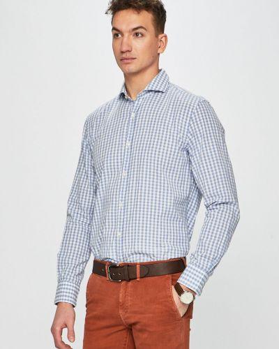 Рубашка с длинным рукавом в клетку хлопковая Pierre Cardin