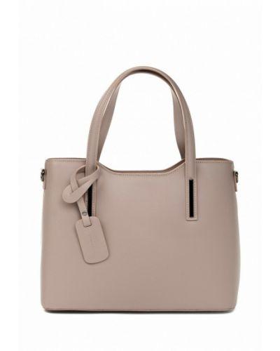 Бежевая кожаная сумка Vivat Accessories
