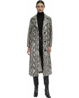 Кожаное пальто Stand