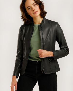 Серая кожаная куртка с подкладкой из натуральной кожи Finn Flare