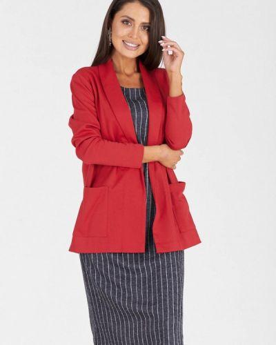 Повседневное платье серое красный Eliseeva Olesya