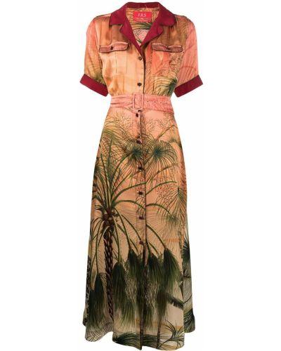 Satynowa zielona sukienka mini krótki rękaw F.r.s For Restless Sleepers