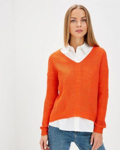Оранжевый пуловер Jacqueline De Yong