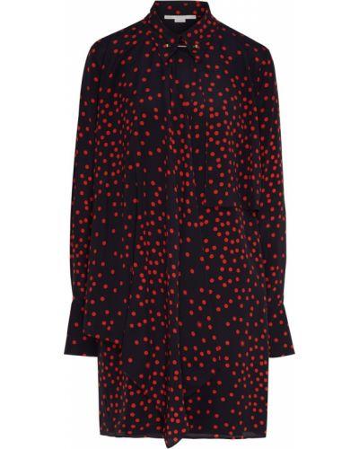 Платье мини в горошек платье-рубашка Stella Mccartney