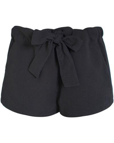 Короткие шорты черные шелковые Opening Ceremony