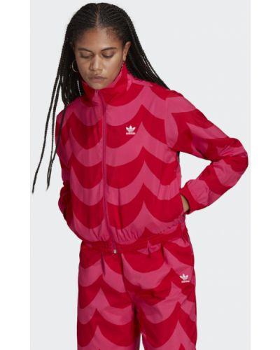 Розовая олимпийка с принтом Adidas