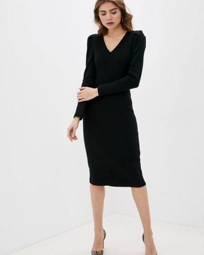 Прямое черное платье Argent