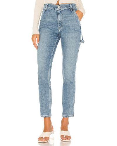 Синие с завышенной талией палаццо свободного кроя Hudson Jeans