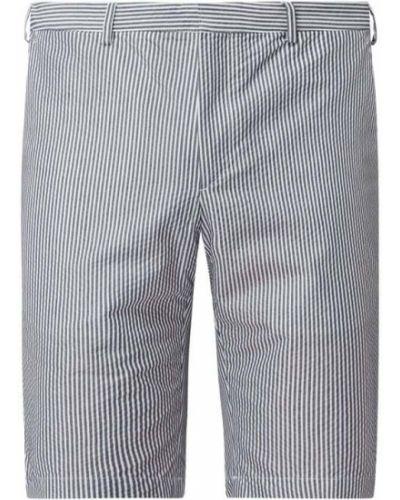 Niebieskie szorty chinosy w paski bawełniane Tommy Hilfiger