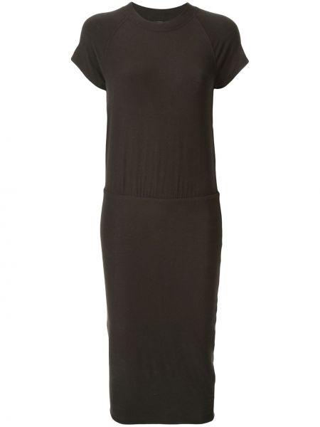 Платье мини с драпировкой черное James Perse