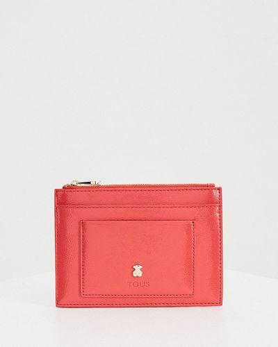 Лаковый розовый кожаный кошелек Tous