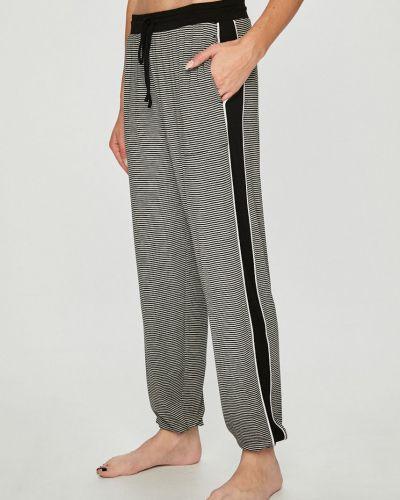 Брюки на резинке пижамные с карманами Dkny