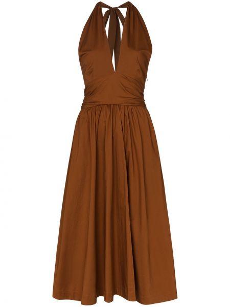 Теплое платье с открытой спиной с карманами Staud