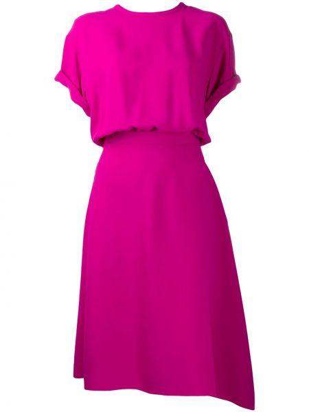 Sukienka mini z rękawami różowa N°21