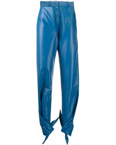 Хлопковые синие брюки с завязками с карманами Matériel
