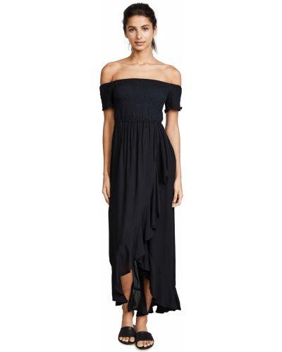 Платье с декольте - черное Tiare Hawaii