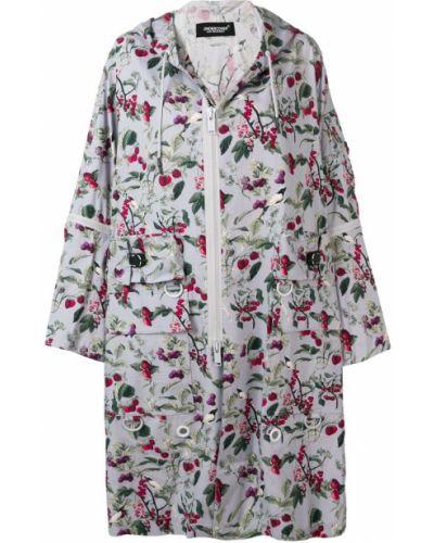Серое пальто с капюшоном Undercover