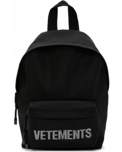Czarny plecak bawełniany Vetements