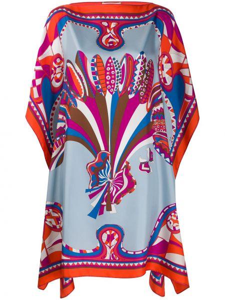 Платье мини миди с абстрактным принтом Emilio Pucci