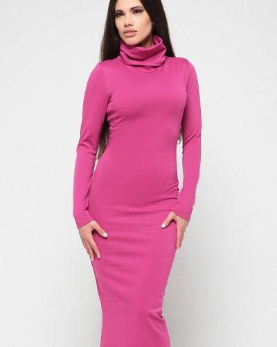 Платье розовое вязаное Malaeva