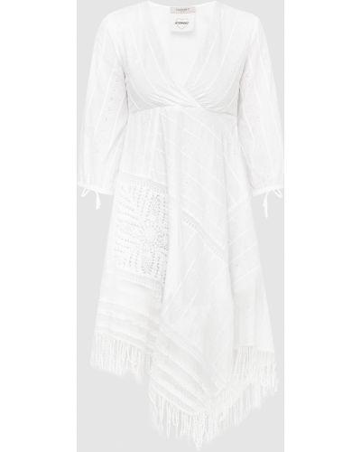 Белое платье мини Twin-set
