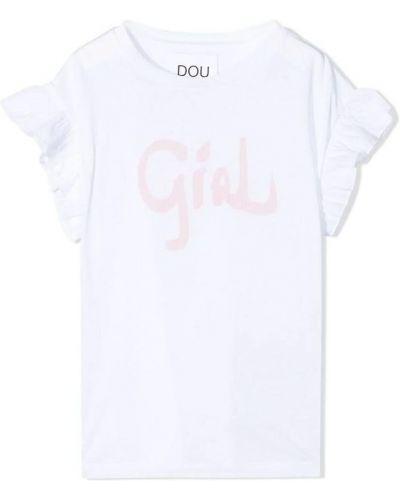 Biały t-shirt Douuod