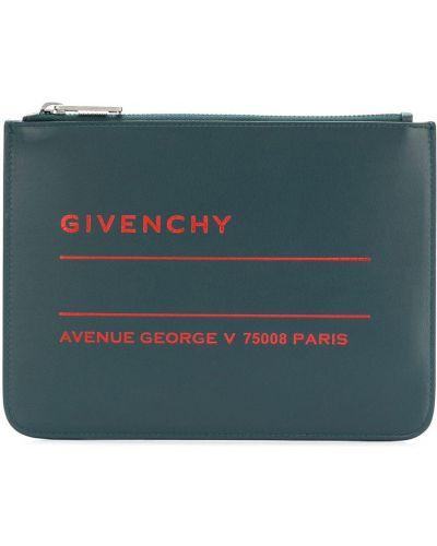 Dom niebieski skórzany torba sprzęgło Givenchy