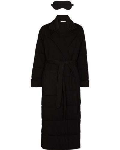 Стеганый халат - черный Skin