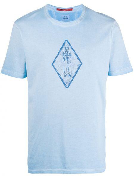 Koszula krótkie z krótkim rękawem prosto z nadrukiem C.p. Company