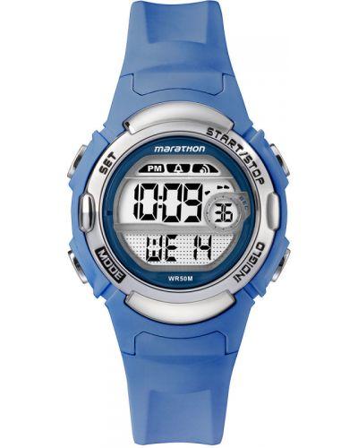 Часы водонепроницаемые темно-синий с подсветкой Timex