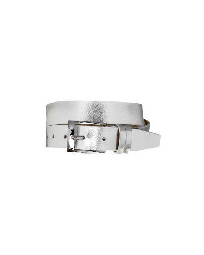 Повседневный кожаный серебряный ремень на торжество Gulliver Wear