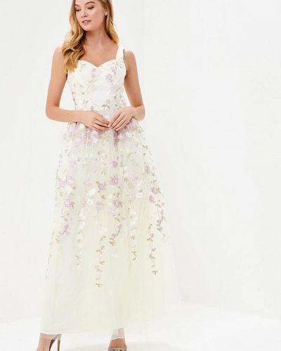 Белое вечернее платье Chi Chi London