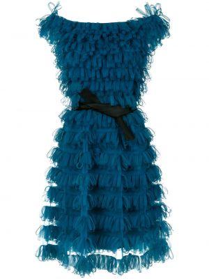 Синее платье с короткими рукавами Gloria Coelho