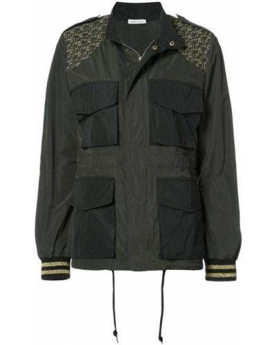Длинная куртка с вышивкой с заплатками из полиэстера Tomas Maier