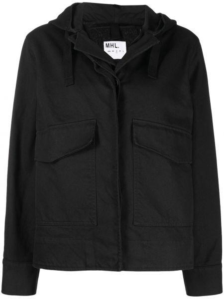 Шерстяная черная куртка с капюшоном Margaret Howell