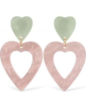 Różowe kolczyki sztyfty srebrne Valet Studio