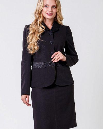Черный вязаный юбочный костюм Sergio Cotti