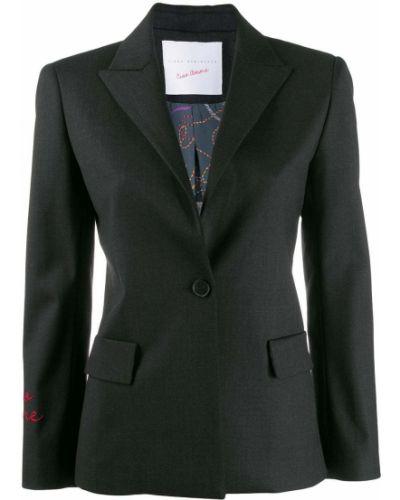 Серая длинная куртка с манжетами Giada Benincasa