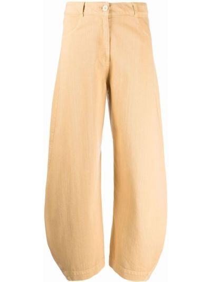 Желтые широкие брюки Henrik Vibskov