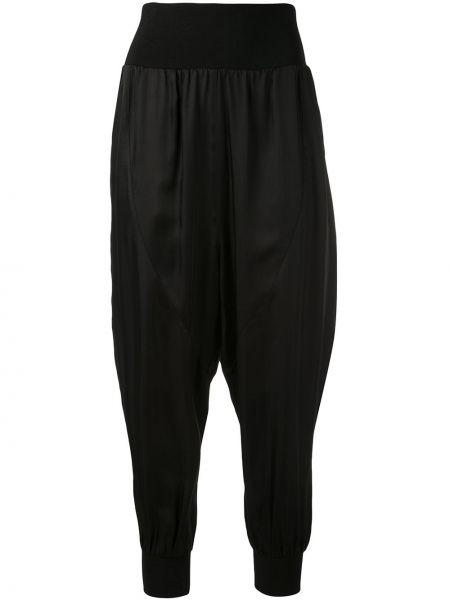 Черные брюки в рубчик с карманами свободного кроя Cinq À Sept