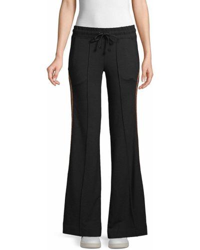 Хлопковые черные спортивные брюки с карманами Koral Activewear