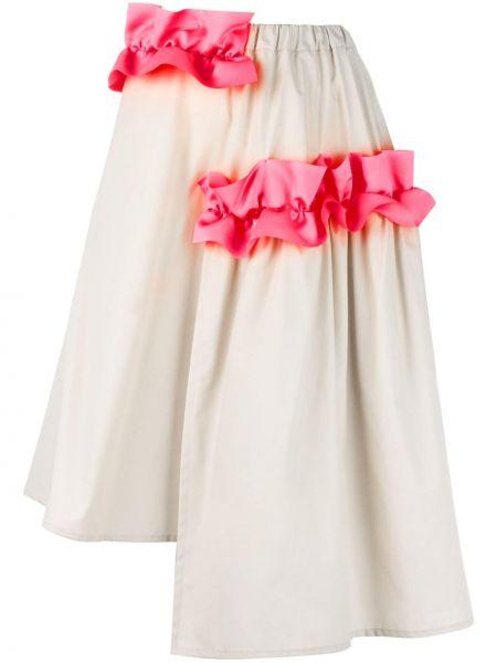 Хлопковая асимметричная юбка с оборками Paskal
