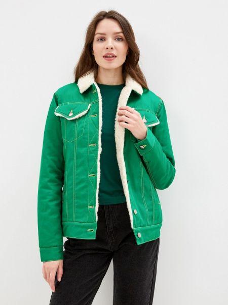 Джинсовая куртка - зеленая Dasti