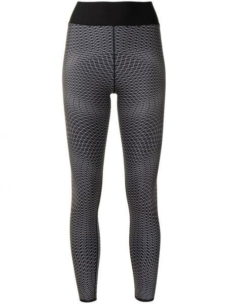 Czarne legginsy z wysokim stanem bawełniane Ultracor